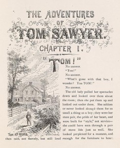 Adventures of Tom Sawyer Chapter 1